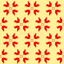 zodiac year of the rooster design stock vector