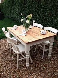 paint glass table top shabby chic dining table diy white floor tile clear glass photo with