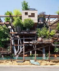 art trees architecture italy treehouse ecology turin asymetrical