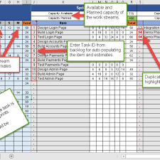 sprint capacity planning excel template free download u2013 free