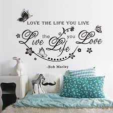 Bob Marley Wallpaper For Bedroom Bob Marley Vinyl Wall Decals Inspirational Quotes Lettering Words