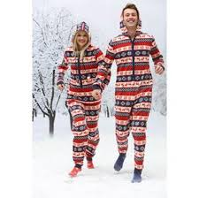 christmas hers his hers christmas onesie supersoft fleece adults christmas