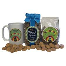 thanksgiving gift box with cookies and personalized label