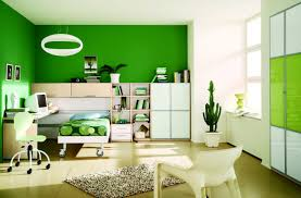 bedroom striped white and green paint wall color wooden floor