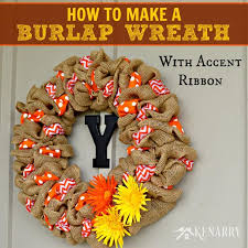 ribbon wreaths how to make a burlap wreath with accent ribbon