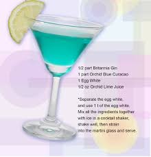 martini drinks blue cloud cocktail recipe