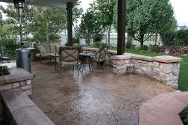 stamped concrete patio ideas with pergola design patio