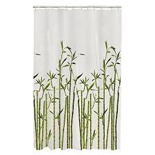 Bamboo Print Shower Curtain Amazon Com Maytex Bamboo Photo Real Peva Vinyl Shower Curtain