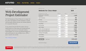 Estimation Template Excel by How To Estimate Web Design Cost An Agency U0027s Perspective