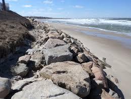 stone revetment construction in dennis cape cod bay sullivan
