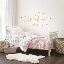 Toddler Comforter Levtex Baby Willow Gold Dot Pink 5 Piece Toddler Bedding Set