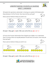 second grade division worksheets