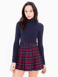 plaid skirt tennis skirt american apparel