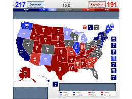 Election Map 2012 by Electoral Vote Predictor Full Report Card Presidential Race