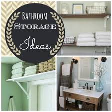 storage ideas for small bathrooms with no cabinets with farmhouse