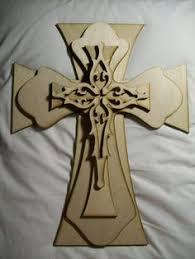 unfinished crosses deer laser cut outunfinished wood shape craft supply der2
