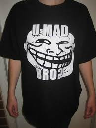 Why U Mad Meme - u mad bro troll face meme t shirt blasted rat