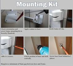 door handle lockable lock and grab handle caravan motorhome