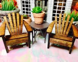 Miniature Adirondack Chair Miniature Adirondack Chair Fairy Beach Garden Supply Citrus