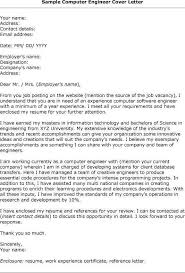 computer engineer cover letter computer engineer cover letter