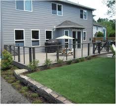 backyards stupendous portland landscaping deck retaining wall
