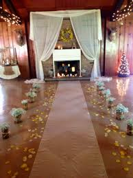 rustic barn country wedding wedding fireplace decor wedding wedding fireplace decor wedding ceremony backdrop baby s breath aisle