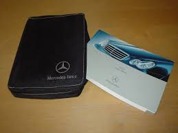 mercedes benz w203 c class owners manual handbook c w wallet 2000