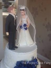 bride groom cake toppers rugby