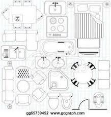 Floor Plan Furniture Clipart Floor Plan Symbol Legend Floor Plan Sketch Showing Room