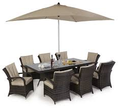 8 Seat Patio Dining Set - maze rattan texas 8 seat rectangle dining set