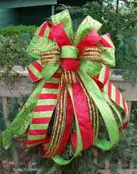 christmas tree bow topper attractive design christmas bow topper tutorial tree burlap