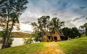 country house by the lake hd wallpapers