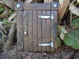 Ideen Aus Holz Fur Den Garten Hobbit Tür Magisches Tor Ideal Für Garten Und Bäume Garten