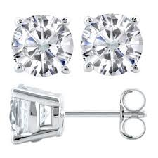 moissanite earrings moissanite stud earrings in palladium moissaniteco