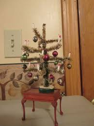 miniature christmas trees vintage miniature doll house christmas tree with candles