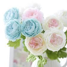 Fake Peonies Artificial Peony Flowers Single Long Stem Bouquet Beautiful