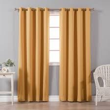 orange curtains u0026 drapes you u0027ll love wayfair