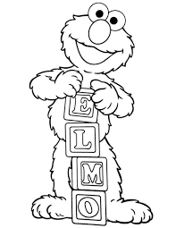 coloring pages of baby cookie monster baby elmo drawing baby elmo