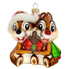 chip n dale glass ornament shopdisney