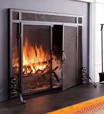 Ideas Fireplace Doors Fireplace Screeens Choosing Fireplace Doors Screen Home