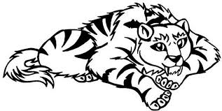 coloring pages of tigers a cartoon illustration of sabretooth tiger coloring page