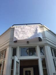 amherst college anti war banner at amherst college sparks 9 11 outrage boston herald