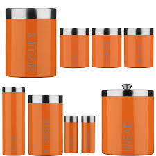 orange kitchen canisters kitchen ideas orange kitchen canisters photo 9