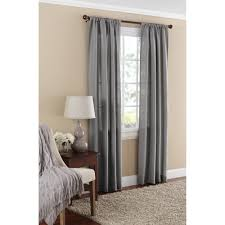 Linen Sheer Curtains Bed Bath And Beyond by Mainstays Textured Solid Curtain Panel Walmart Com