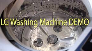 lg washing machine top load 6 2 kg video demo youtube
