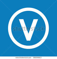 letter v isolated on red background stock vector 614221034