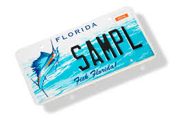 Florida Vanity Plate Cost Fish Florida License Plate Specialized Fishing License Plate
