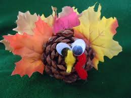 pine cone crafts thanksgiving pine cone turkey