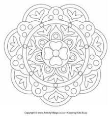 printable rangoli coloring pages kids cool2bkids mandalas