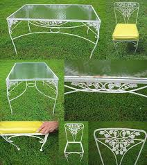 Best Vintage Outdoor Table Settings Images On Pinterest - Antique patio furniture
